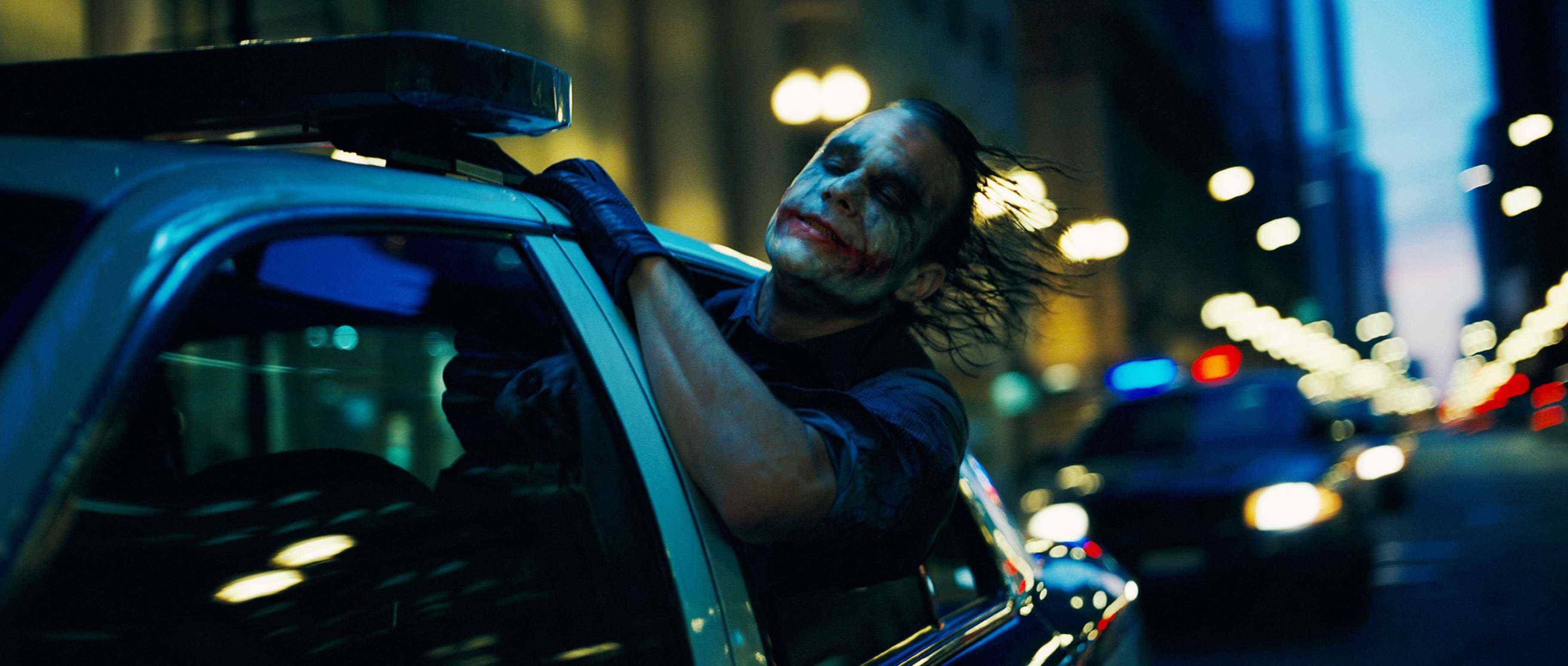 Image result for the dark knight joker police car scene