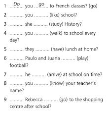 Guia Verbo Do En Ingles Para Niños De Tercero Buscar Con Google Teacher Name Study History Walk To School