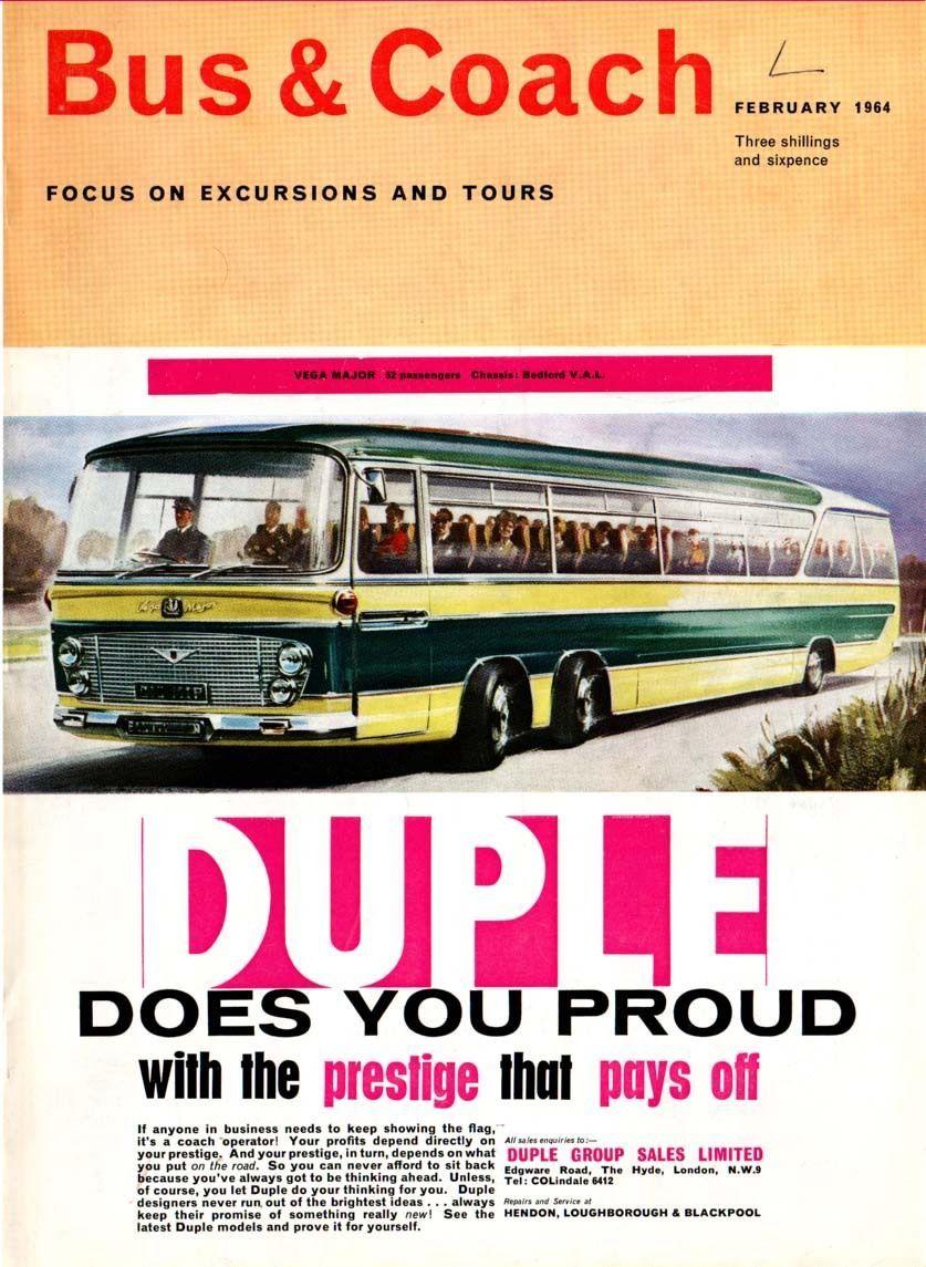 DUPLE COACHES - VEGA MAJOR -- Chassis - BEDFORD V.A.L (1964 ...
