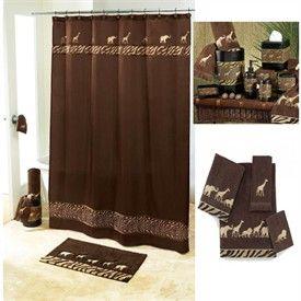 Leopard Shower Set Luxury Shower Curtains Animal