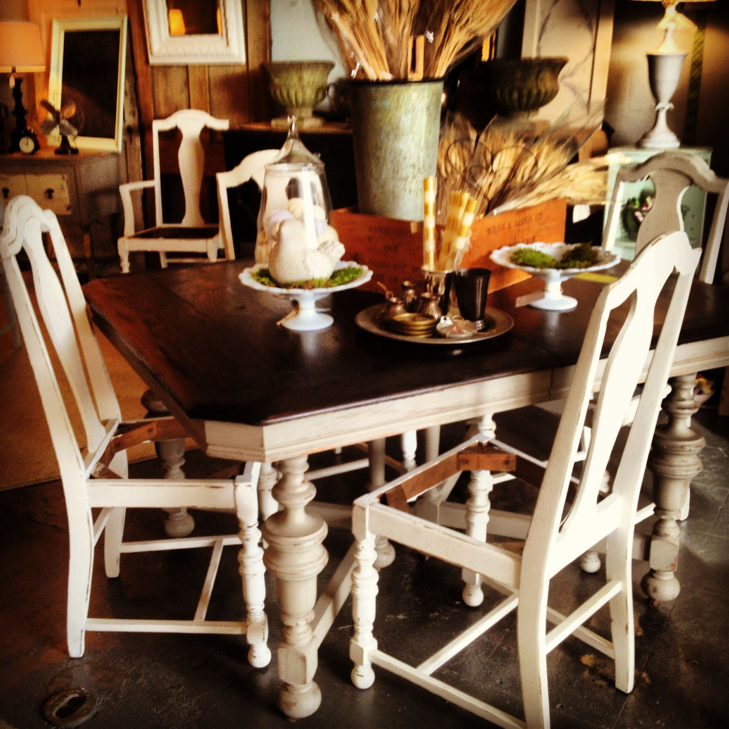 Redoing Dining Room Chairs: Painted Dining Table And Chairs Painted In Southern Honey