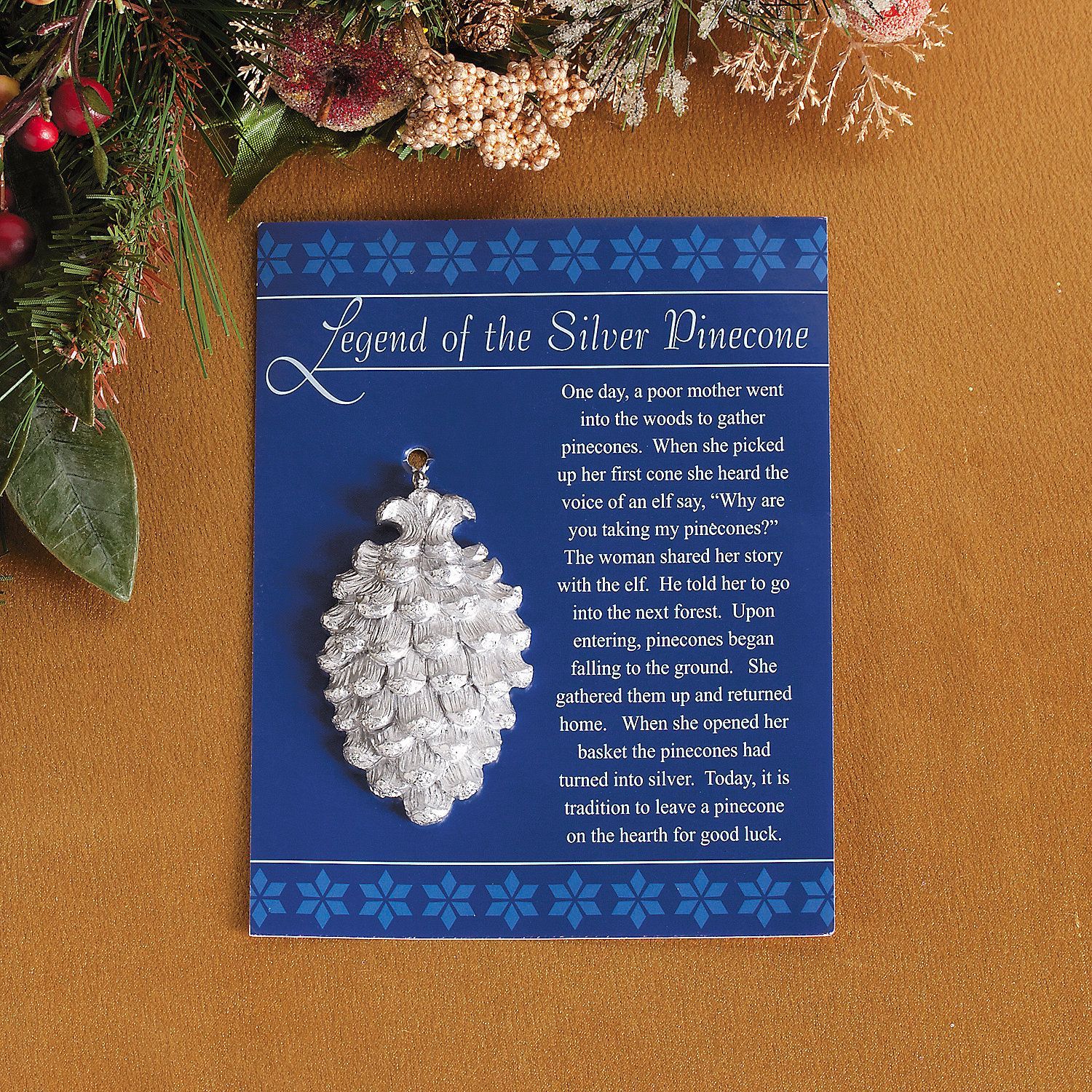 8220 Legend Of The Silver Pinecone 8221 Ornaments Terrysvillage Com Christmas Poems Christmas Ornaments Christmas