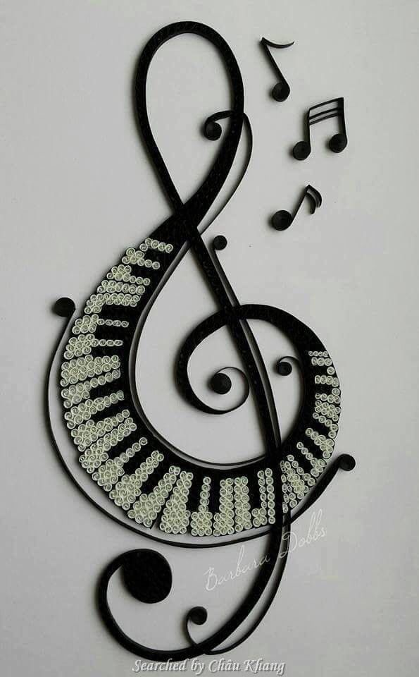 quilled music note crafts quilling husking paper quilling rh pinterest com