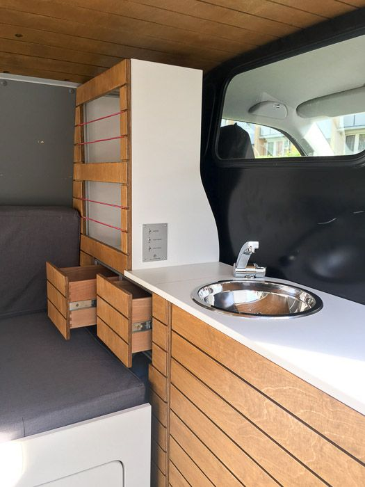 vw t4 t5 t6 wohnmobil camper campingbus ausbau schrank k che van life pinterest vw vans. Black Bedroom Furniture Sets. Home Design Ideas