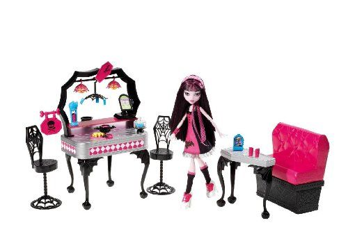 Monster high y7719 mobilier de poup e draculaura diner d 39 enfer your 1 source for toys - Accessoire monster high pour chambre ...