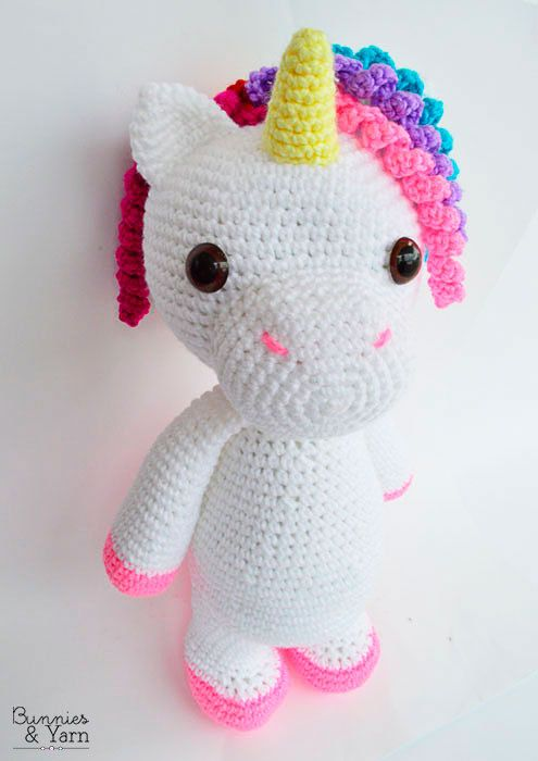 CROCHET PATTERN in English and Spanish - Mimi the Friendly Unicorn ...
