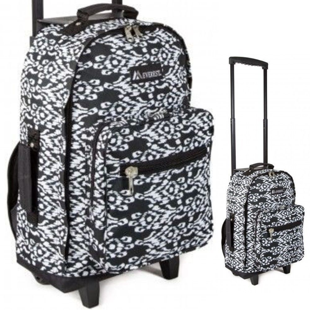 Wheeled Rolling Backpack Tote S College School Book Bag Women Carry Luggage Everest Danann