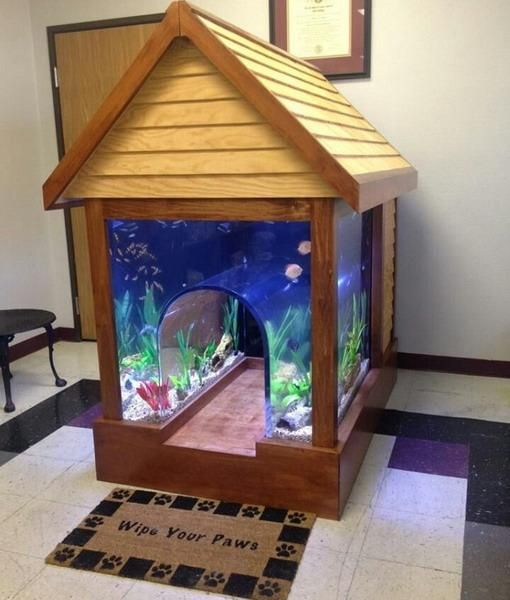 Explore Cat Houses, Dream Houses, And More! Interior Decorating With  Aquariums ... Part 38