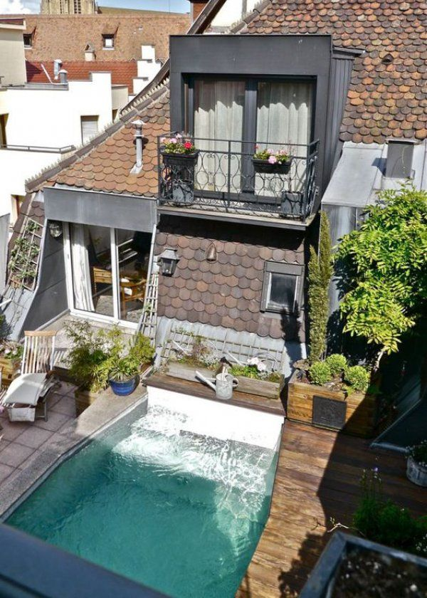 toit terrasse toutes nos inspirations architecture swimming pool pond and balconies. Black Bedroom Furniture Sets. Home Design Ideas