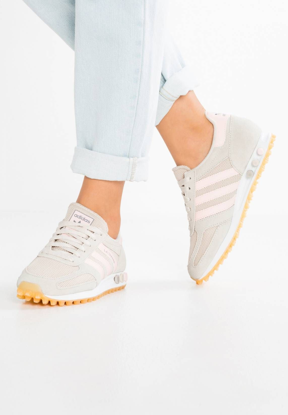 online store a8ca5 15b4d adidas Originals. LA TRAINER OG - Sneaker low - clear brown ice pink