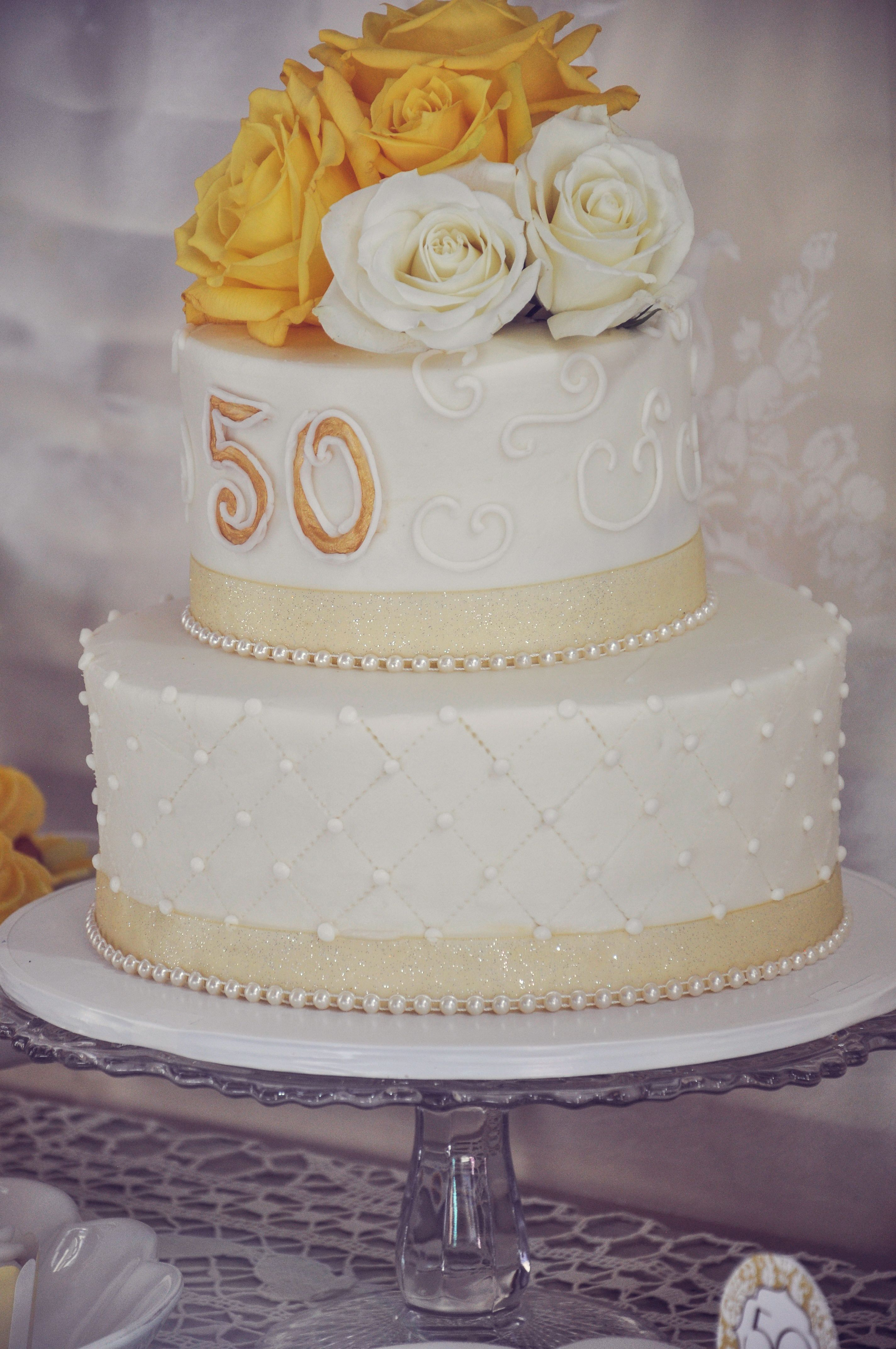50th Anniversary cake | Anniversary party | Pinterest ...