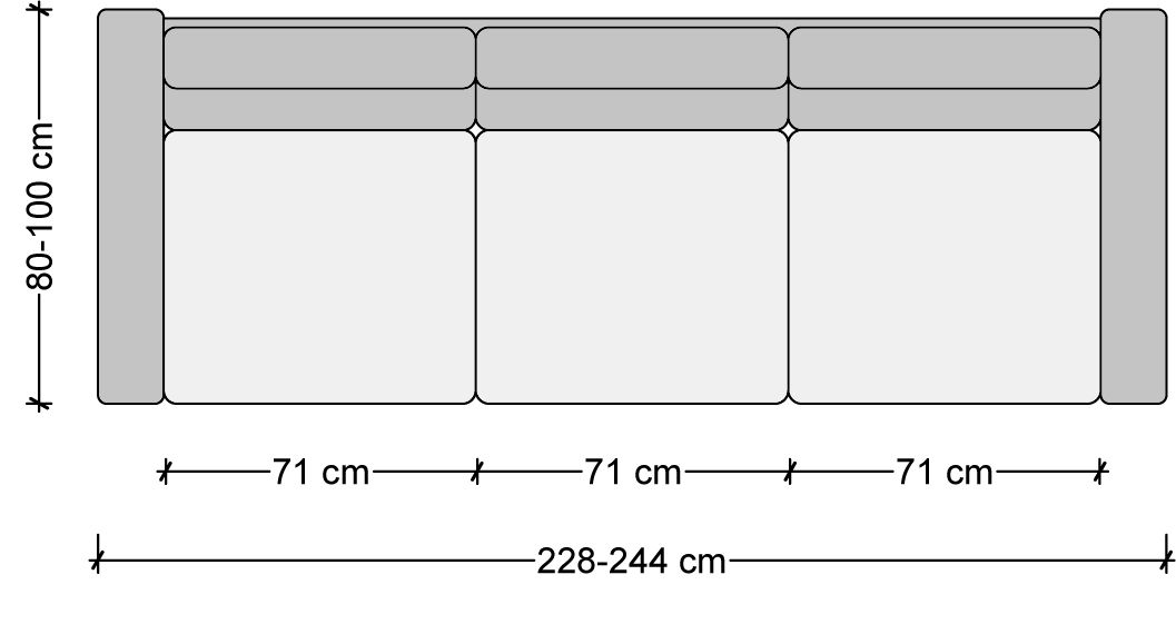 Standard Furniture Dimensions Metric