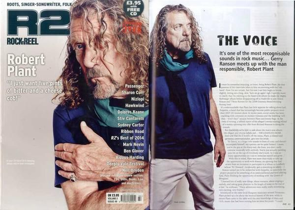 Robert Plant is featured in the latest issue of Rock'n'Reel Magazine
