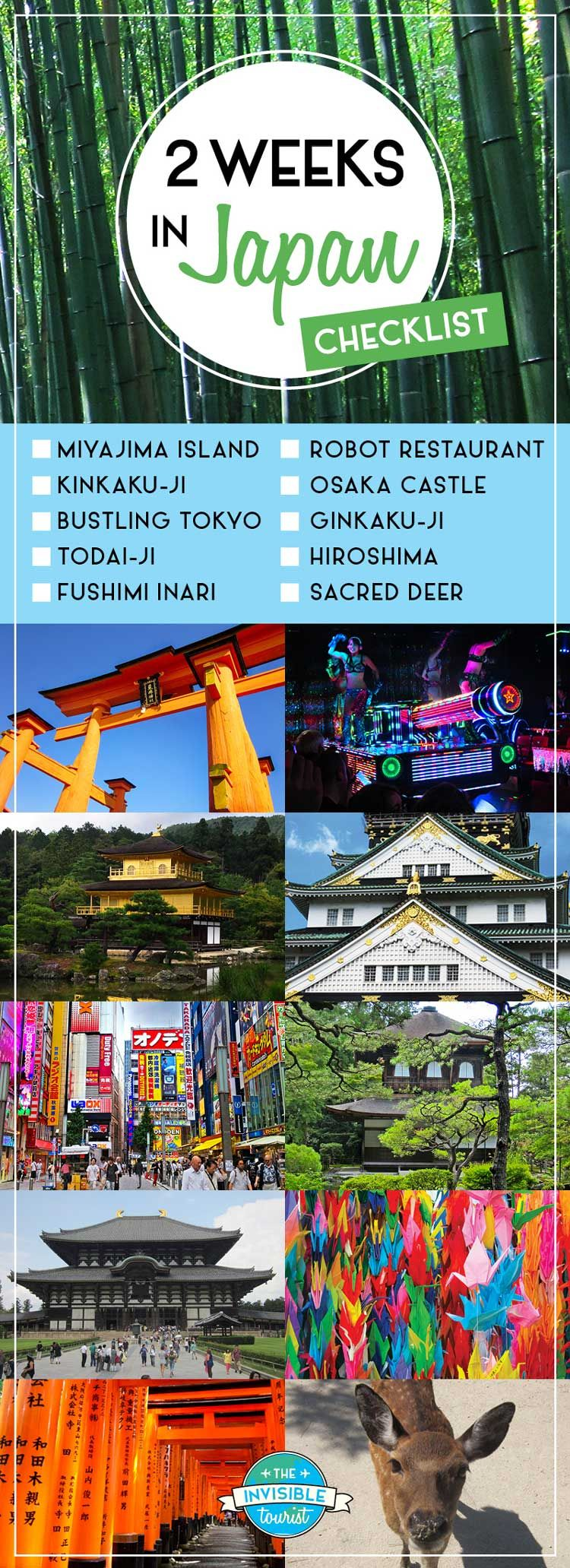 2 Weeks in Japan Holiday Ideas - First Time Checklist