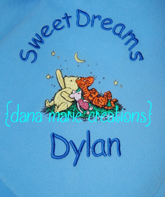 Personalized baby blanket pooh eeyore tigger free insured shipping personalized baby blanket pooh eeyore tigger free insured shipping by dana marie creations 1800 negle Images