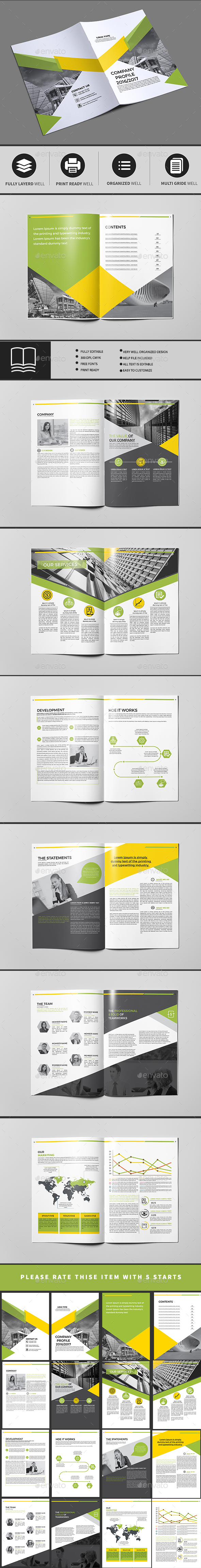 Company Profile A4 16 Pages — InDesign INDD #21x29.7 #showcase ...