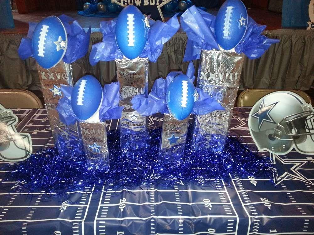 Dallas Cowboys Football Birthday Party Ideas Photo 1 Of 11 Dallas Cowboys Party Dallas Cowboys Birthday Party Dallas Cowboys Birthday