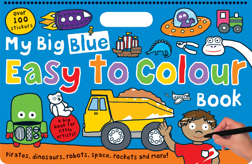 Priddy Books - My Big Blue Easy to Colour Book | The KID´s Game ...