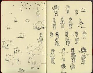Ella Bailey Illustration, love this sketch!