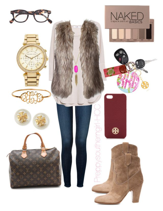 Untitled #95 by preppysoutherngirl-hcc on Polyvore featuring polyvore fashion style MANGO J Brand Gianvito Rossi WGACA MICHAEL Michael Kors Tory Burch Kendra Scott J.Crew Urban Decay Lilly Pulitzer clothing