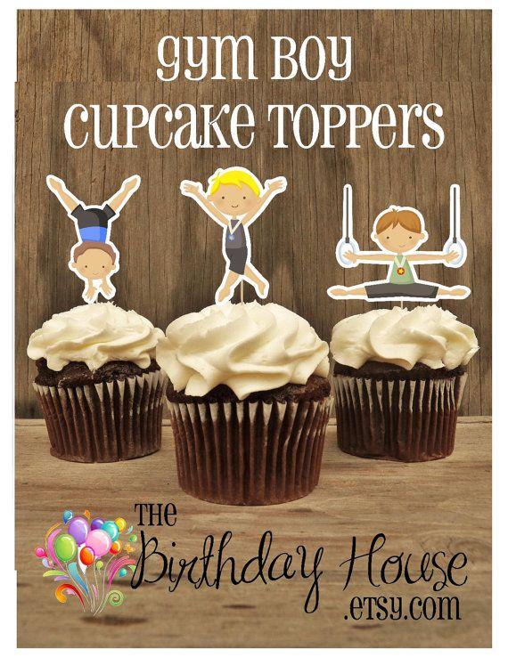 Gymnast Party Cake Topper Gym Girl Gymnastics Gymnastic Birthday Centerpiece Toppers