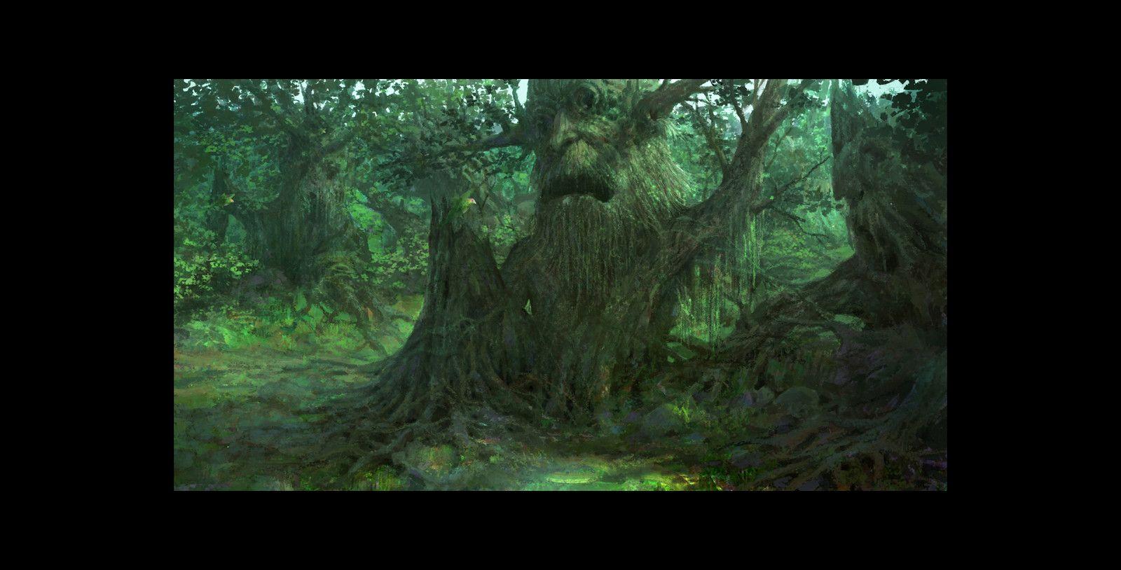 Ent forest, Hangyo Jung on ArtStation at https://www.artstation.com/artwork/lNblY