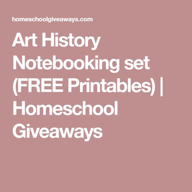 Photo of Art History Notebooking set (FREE Printables) – Homeschool Giveaways