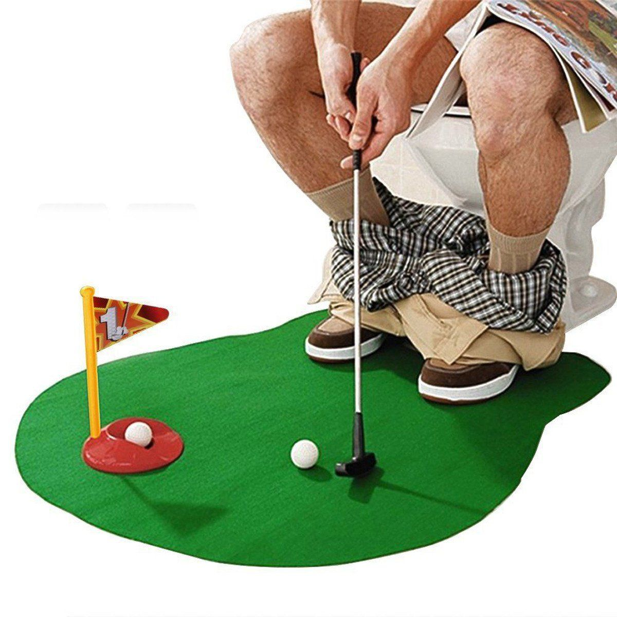 Bathroom Funny Golf Toilet Time Mini Game Golf Humor Toilet
