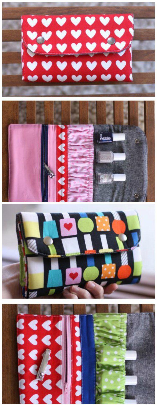 Snappy Mani Pouch - free pattern | Nähen, Nähideen und Taschen nähen