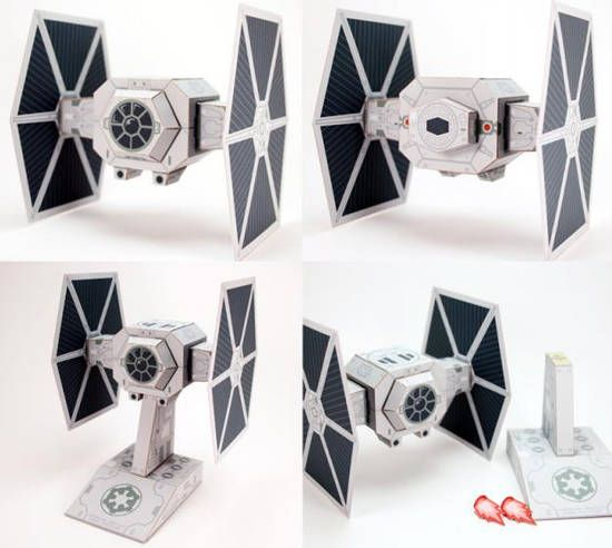 Star Wars - Galatic Empire Tie Fighter Free Paper Model Download - http://www.papercraftsquare.com/star-wars-galatic-empire-tie-fighter-free-paper-model-download.html#StarWars, #TIEFighter