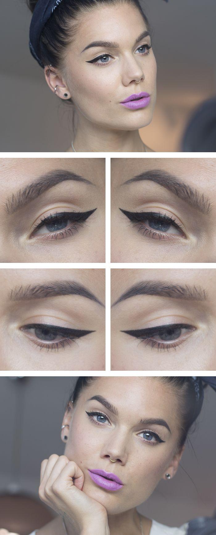 Todays look u Eyeliner  Lindas Sminkblogg  Trend Makeup Nail