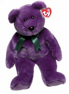 Retired 19207: Ty Beanie Buddy - Employee The Bear Purple Like New -> BUY IT NOW ONLY: $1500 on eBay!