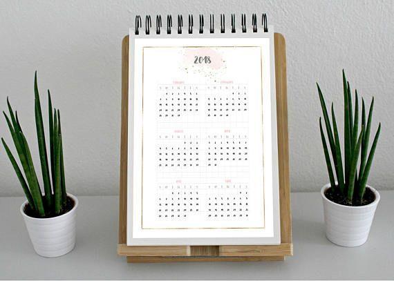 2018 Calendar 6 Monthly Overview Calendar For Clipboard Printable