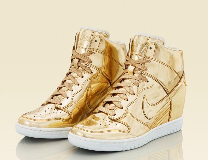 Gold nike shoes, Nike gold, Nike shoes