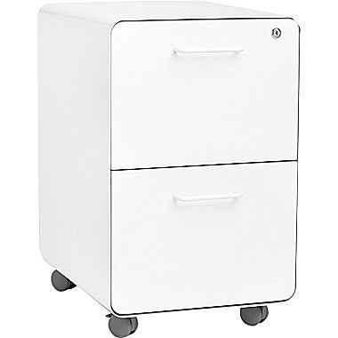 Poppin Stow File Cabinet Rolling 2 Drawer White 100914 At Staples In 2020 Filing Cabinet Drawers Cabinet