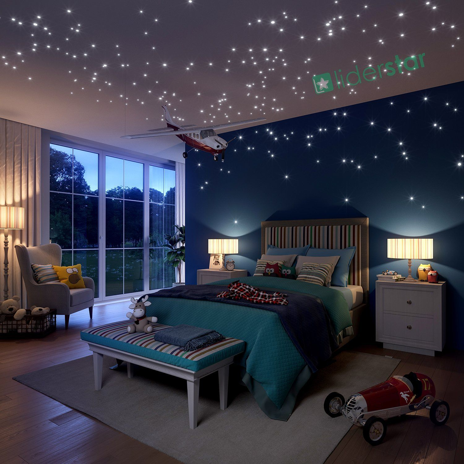 Bedroom Ceiling Stars Bedroom Cupboards With Mirror Grey Bedroom Black Furniture Bedroom Colours According To Vastu Shastra: Glow In The Dark Stars Wall Vinyl Stickers, 504 Dots And