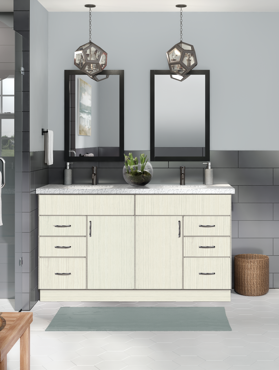 Classic Lanielle In Whisper Laminate Doors Bathroom Cabinetry