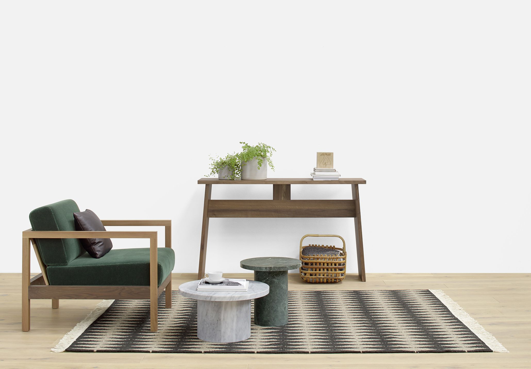 Solid marble side tables ENOKI MIGOTO by Philipp Mainzer with ...