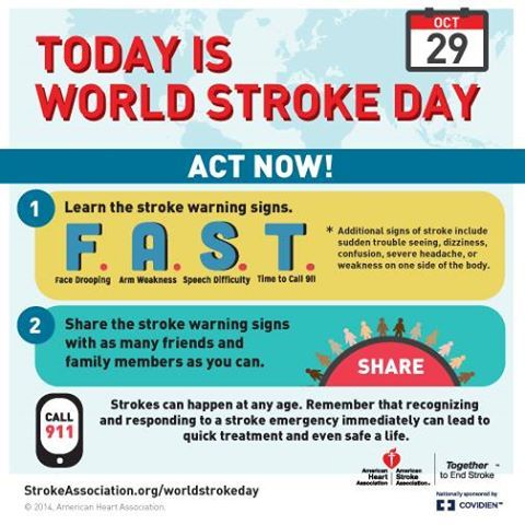 October 29th Is World Stroke Day Which Was Established By The World Stroke Organization In 2006 To Help Sp World Stroke Day Infographic Health Severe Headache
