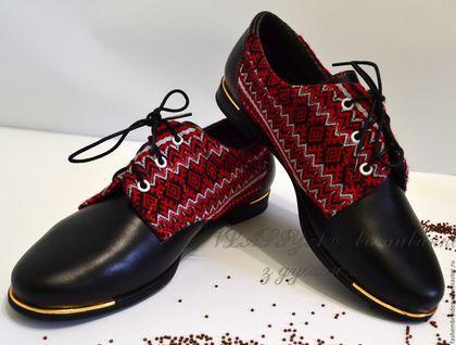 Обувь ручной работы. Ярмарка Мастеров - ручная работа. Купить Туфли ботинки  женские с вышивкой. Handmade. Черный, вышитая одежда e1d52ed40fe