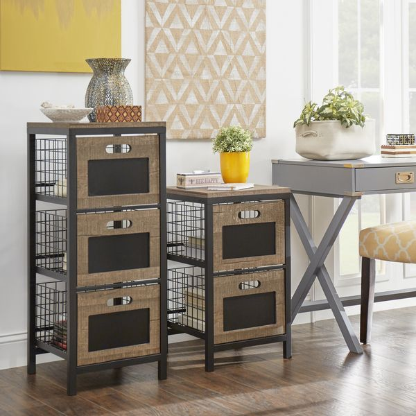 Holtom Wire Basket Storage Tower Organizer Chest | Overstock.com Shopping    The Best Deals
