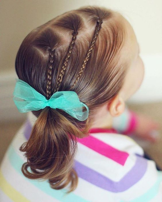 Nice and Simple summer ponytail hairstyles for little girls   – Ponytail Hairsty… - summer hairstyles