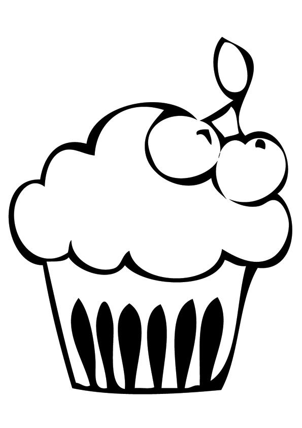 Pin By Kina On Ez Easy Coloring Pagez Cupcake Coloring Pages Coloring Pages Fruit Coloring Pages