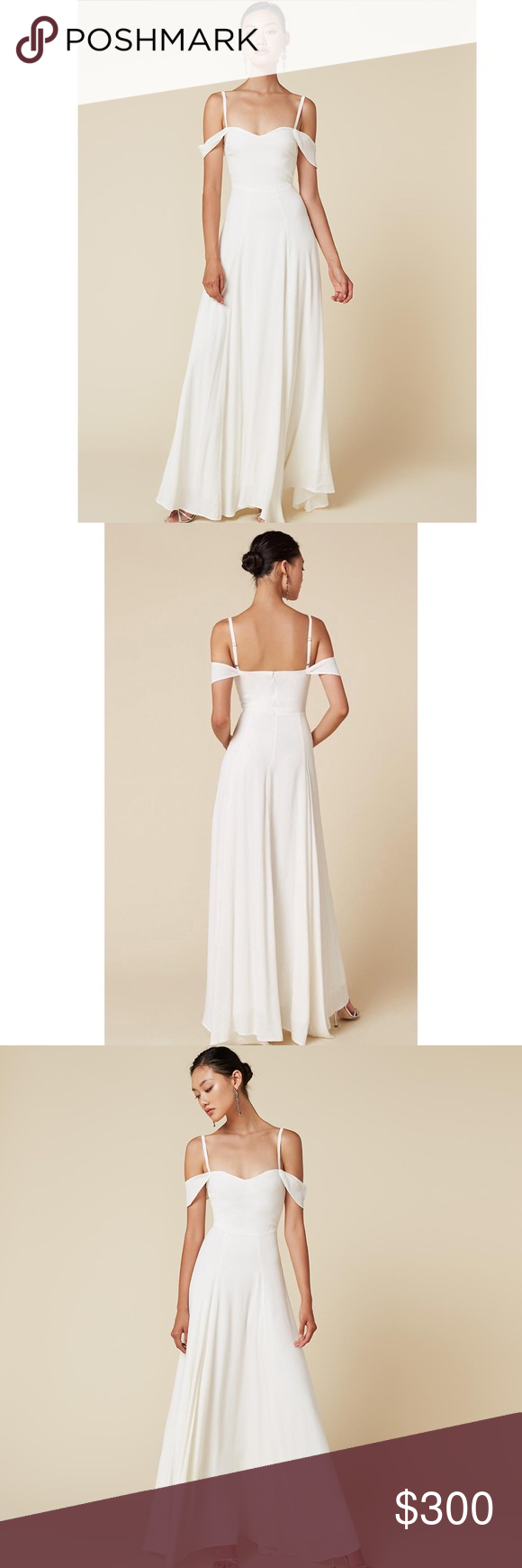 Reformation Poppy Dress In Ivory Size 12 Nwot This Is An Absolutely Stunning