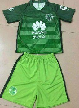 eebc0f87fdc Kids Club America 2017-18 Season Green Third Liga MX Soccer Kit  J731