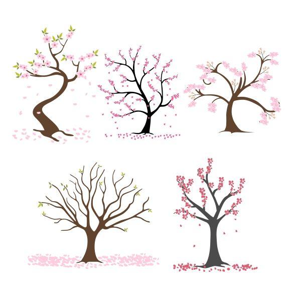Blossom Tree Cuttable Design Blossom Trees Crochet Tree Tree Svg