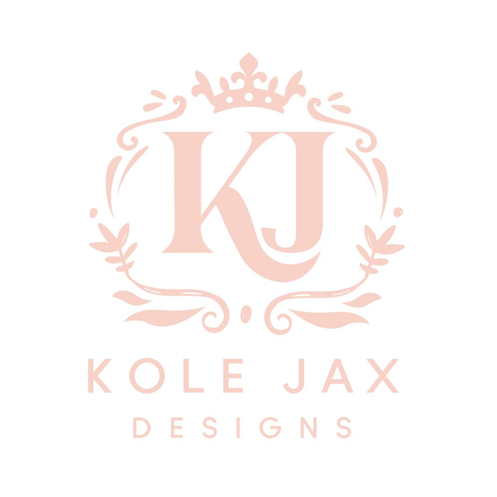 Feminine Logo Design Pink Logo Elegant Logo Design Elegant Logo Kj Monogram Wedding Logo Monogram Wedding Logos Monogram Tattoo