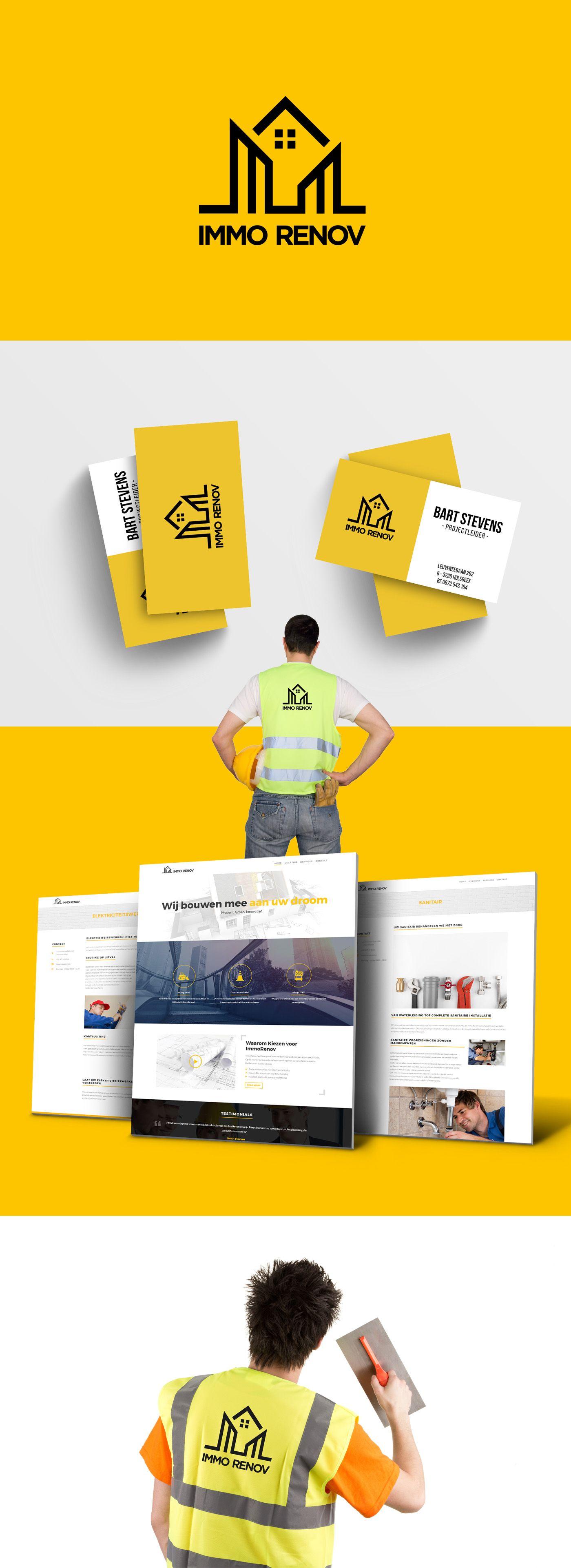 Branding Construction Works Businesscard Website Carte De Visite Design