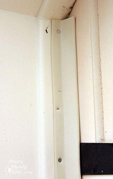 Installing Weatherstripping On A Garage Door Really Warms Up The Workshop Weatherstripping Garage Doors Garage Door Insulation