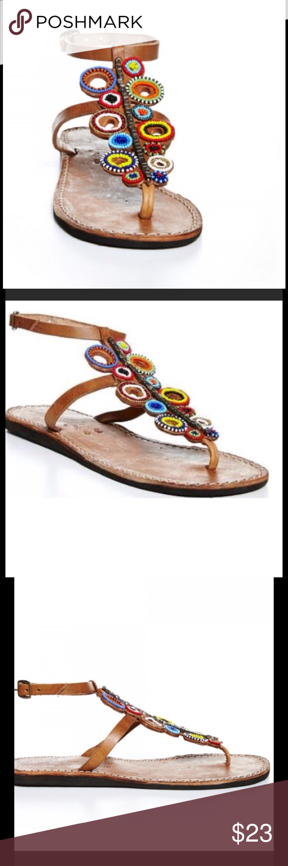Laidback London Beaded Sandals from Anthro-10/11 Great beaded sandals, best on a 10-11- worn once! Anthropologie Shoes Sandals